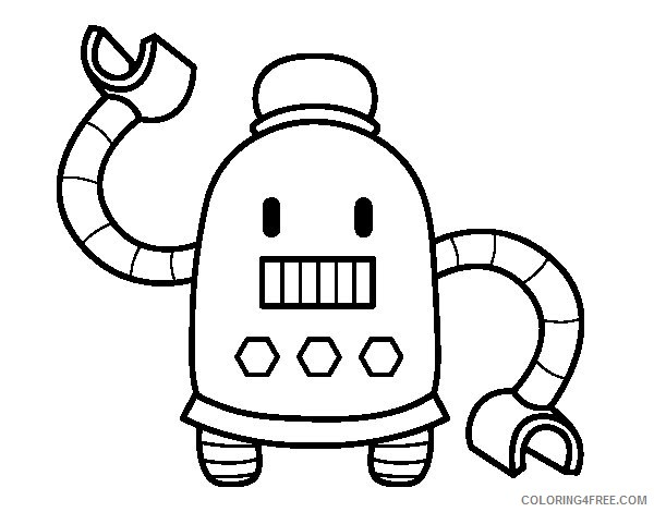 cute robot coloring pages for kids Coloring4free