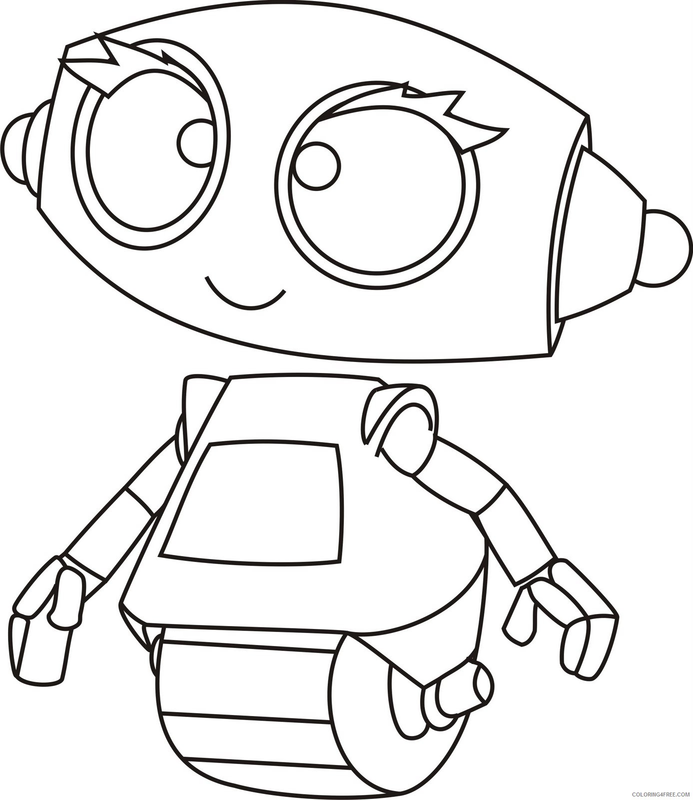 cute robot coloring pages printable Coloring4free