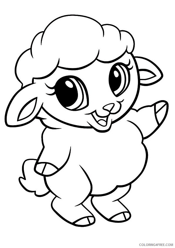 cute sheep coloring pages printable Coloring4free