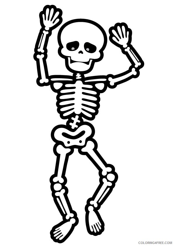 cute skeleton coloring pages Coloring4free
