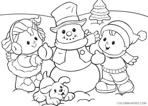 cute snowman coloring pages made by kids Coloring4free