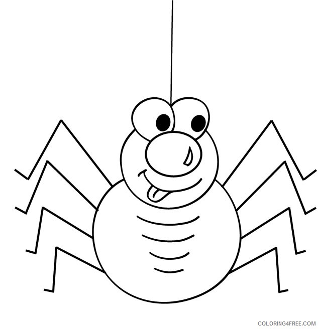cute spider coloring pages printable Coloring4free