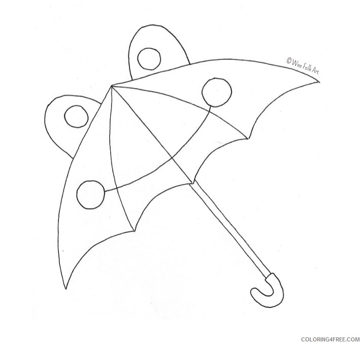 cute umbrella coloring pages for kids Coloring4free