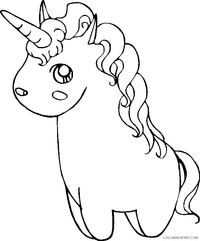 cute unicorn coloring pages for girls Coloring4free