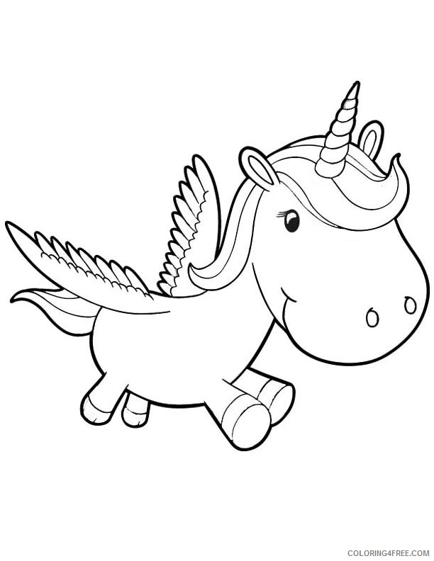 cute unicorn coloring pages for kids Coloring4free