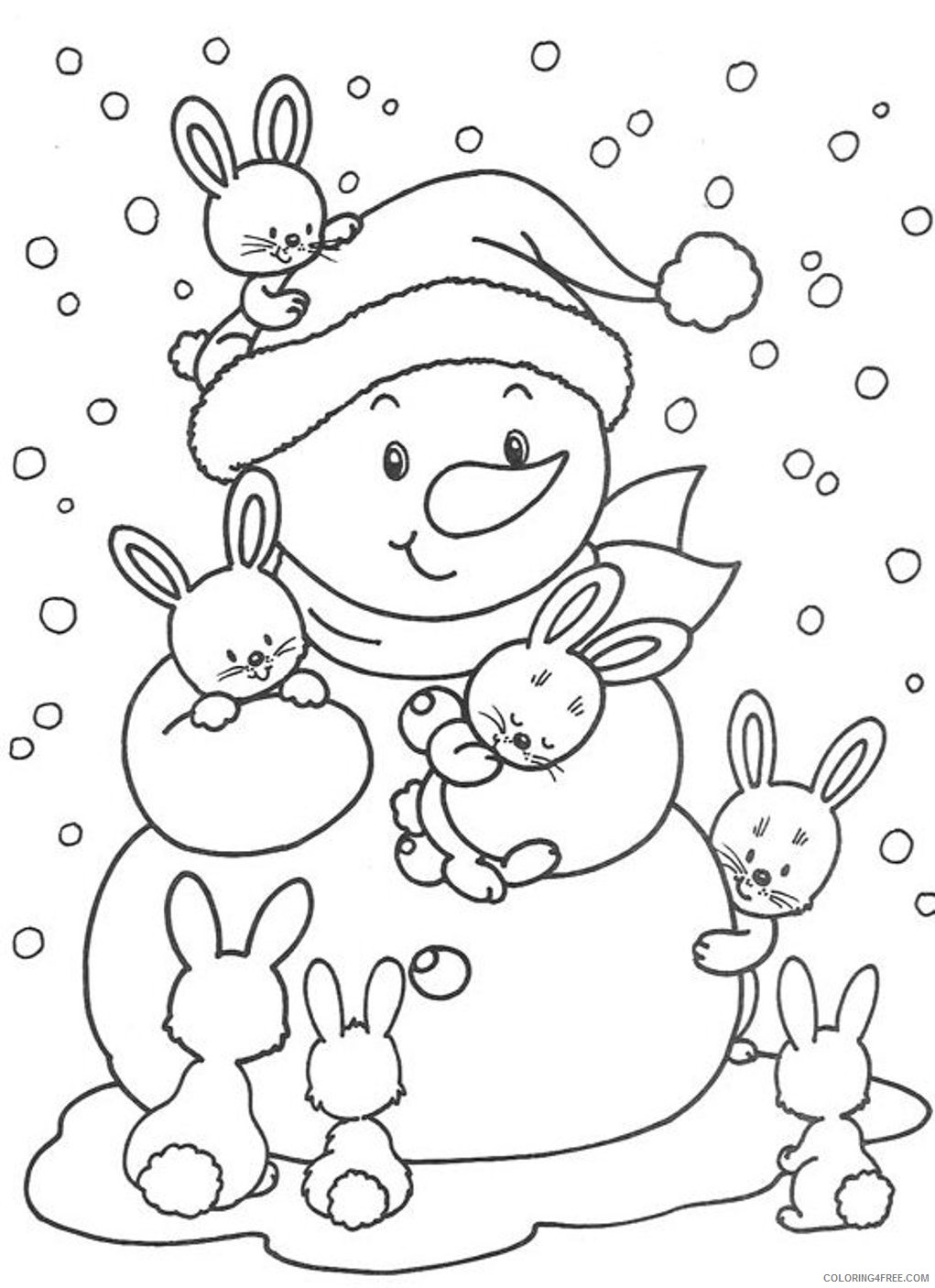 cute winter coloring pages for kids Coloring4free
