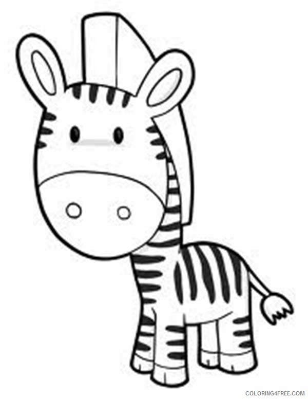 cute zebra coloring pages Coloring4free
