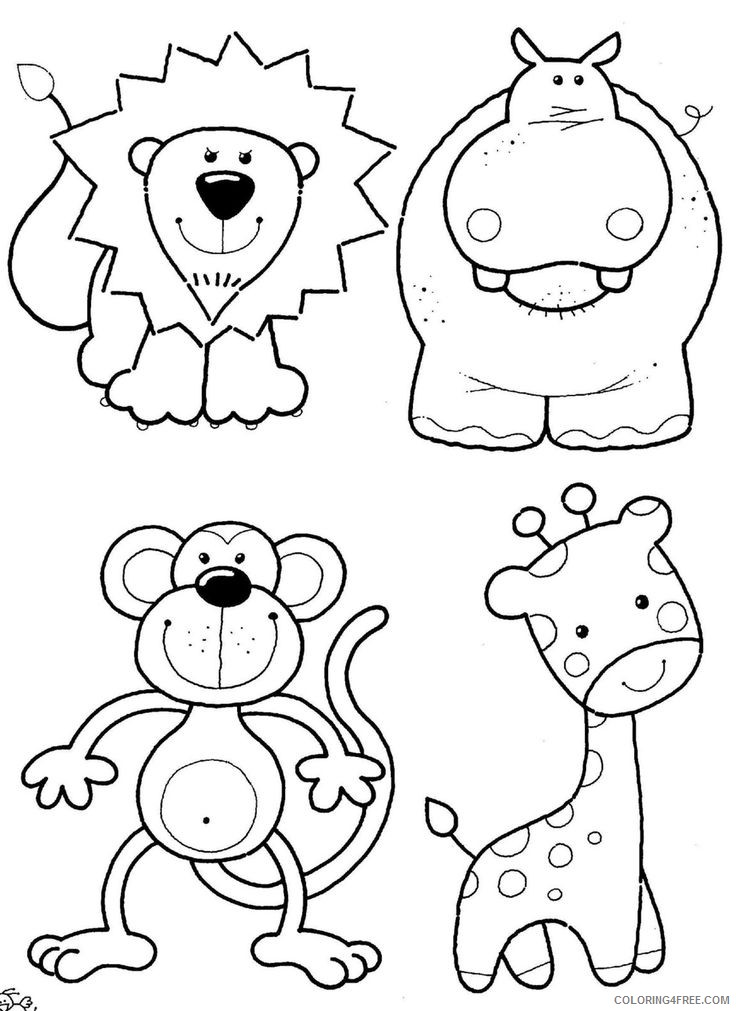 cute zoo animal coloring pages Coloring4free