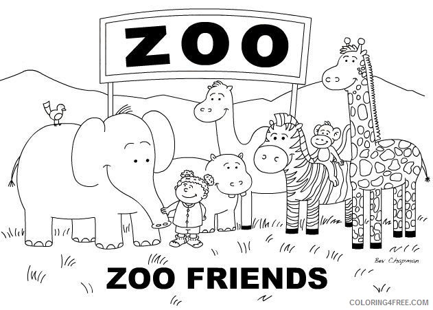 cute zoo animal coloring pages to print Coloring4free