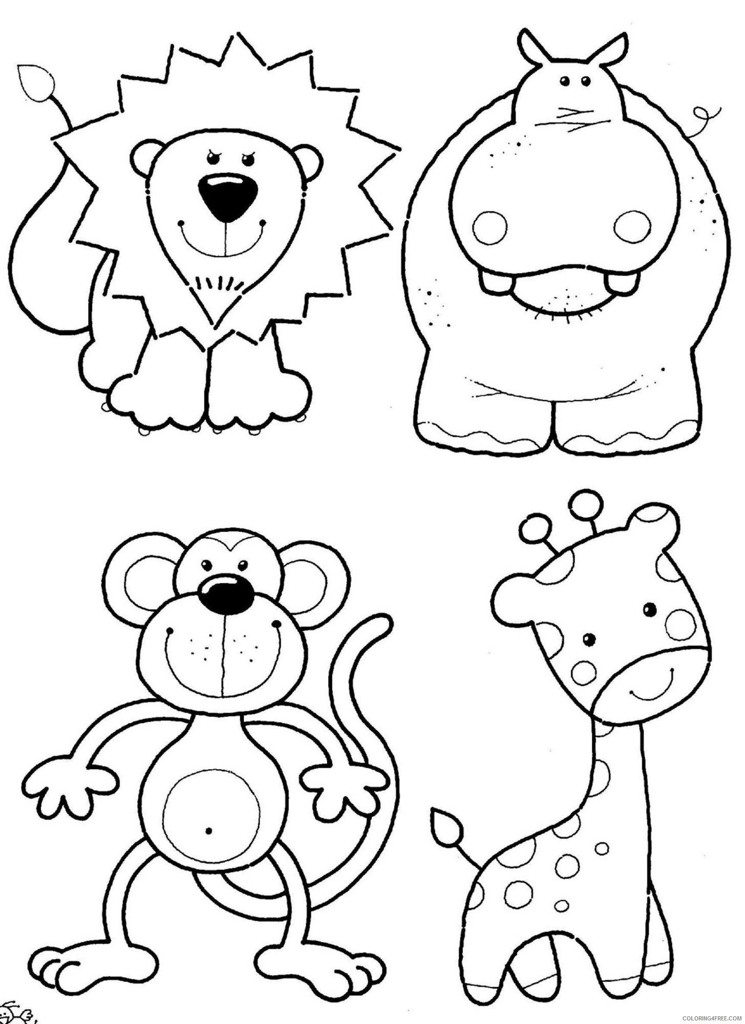 cute zoo animals coloring pages Coloring4free