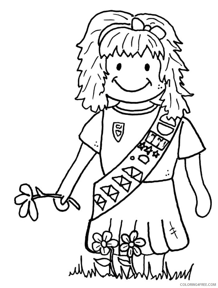daisy girl scout coloring pages Coloring4free