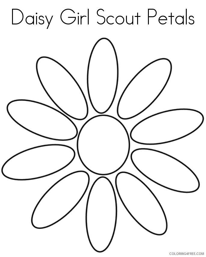 daisy girl scout coloring pages printable Coloring4free