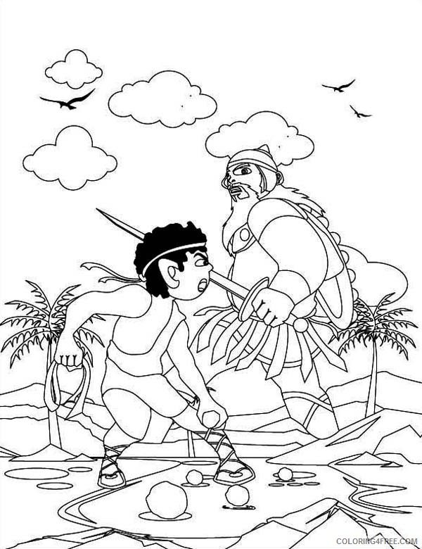 david and goliath coloring pages for kindergarten Coloring4free