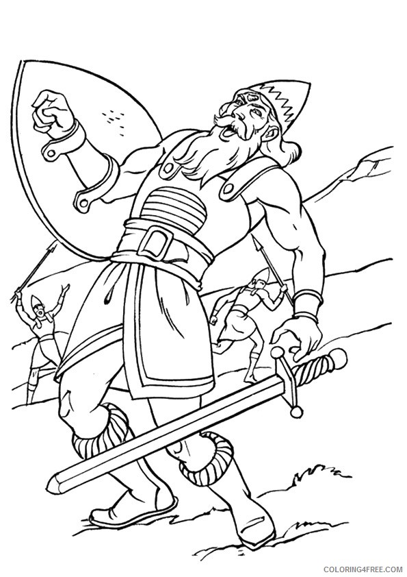 david and goliath coloring pages goliath Coloring4free