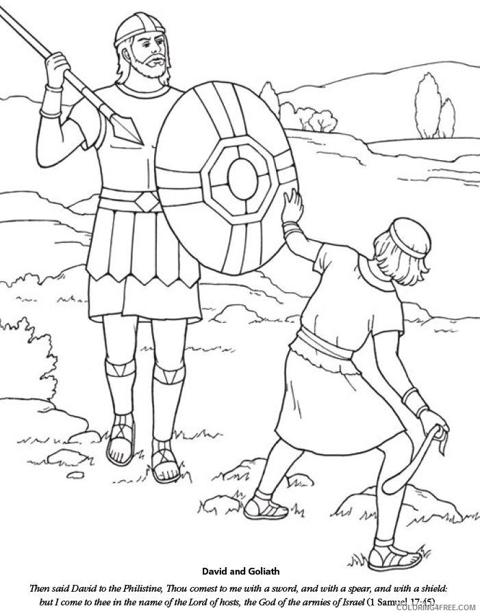 david and goliath coloring pages with story Coloring4free