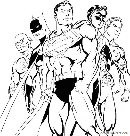 dc comics superhero coloring pages Coloring4free