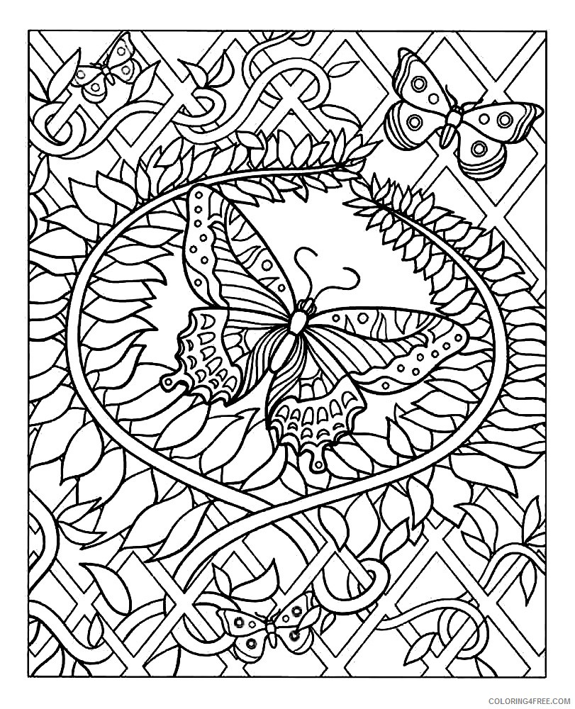 design coloring pages butterfly Coloring4free