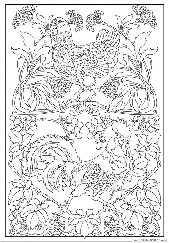 design coloring pages of animals Coloring4free