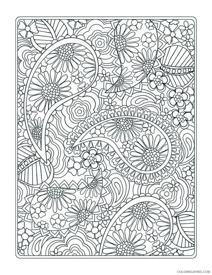 design coloring pages paisley Coloring4free