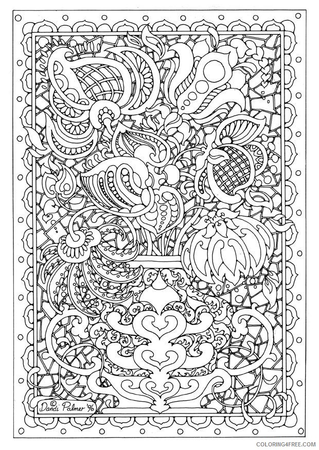 detailed coloring pages abstract Coloring4free