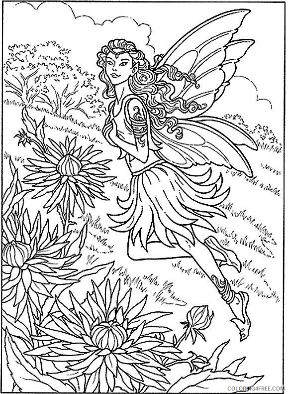 detailed coloring pages fairy Coloring4free