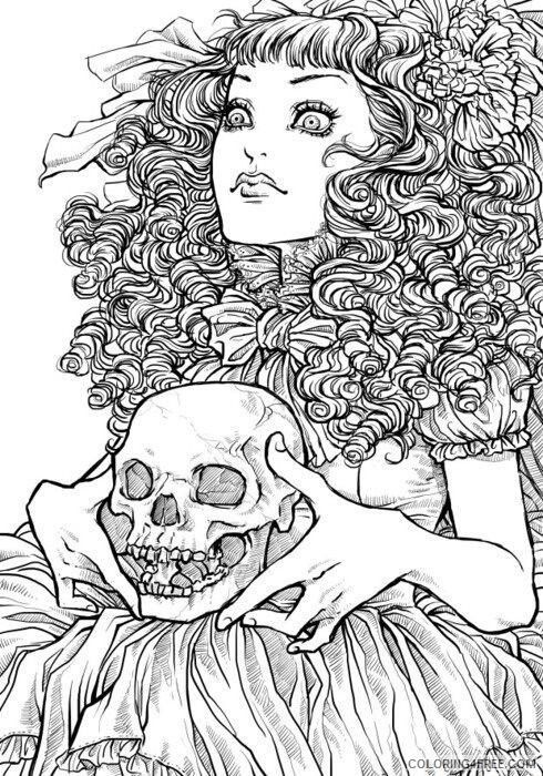 detailed coloring pages for girls Coloring4free