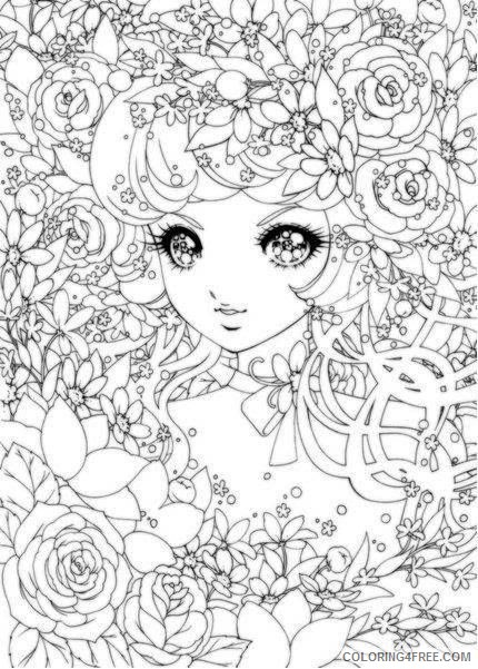 detailed coloring pages of anime girl Coloring4free