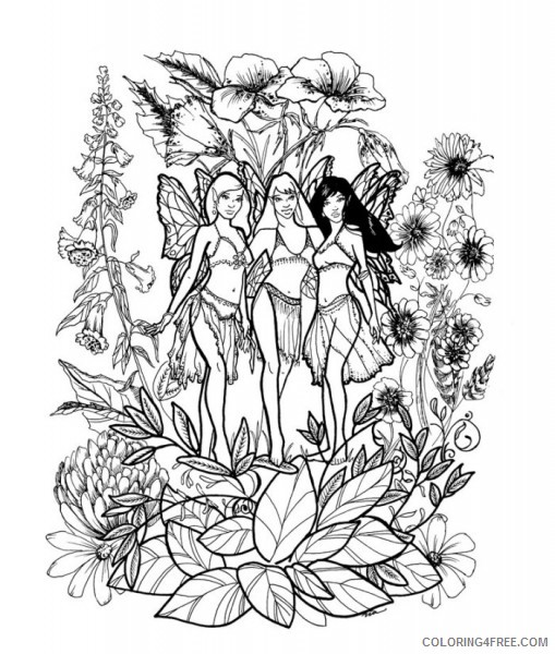 detailed coloring pages of fairies Coloring4free