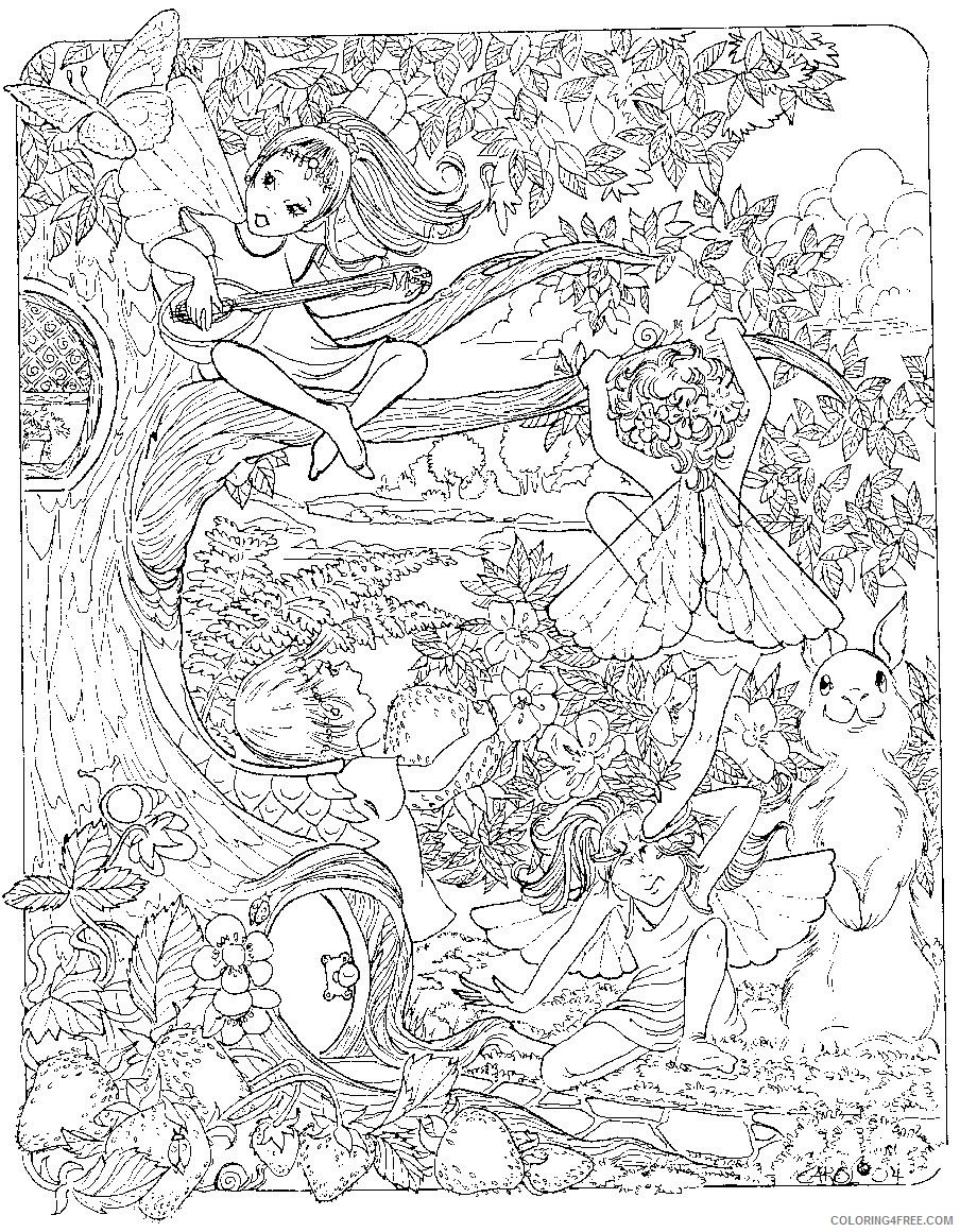 detailed coloring pages of fairy world Coloring4free