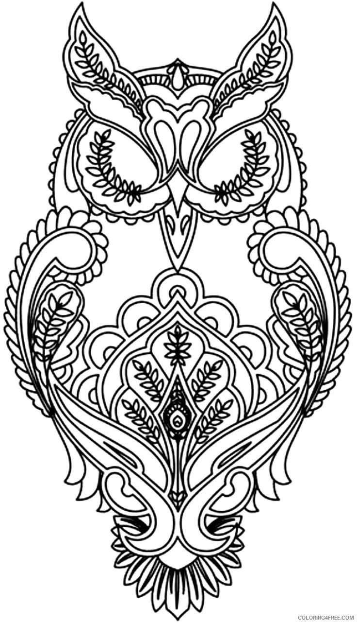 detailed coloring pages of owl Coloring4free