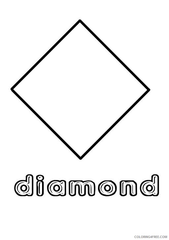 diamond shape coloring pages Coloring4free
