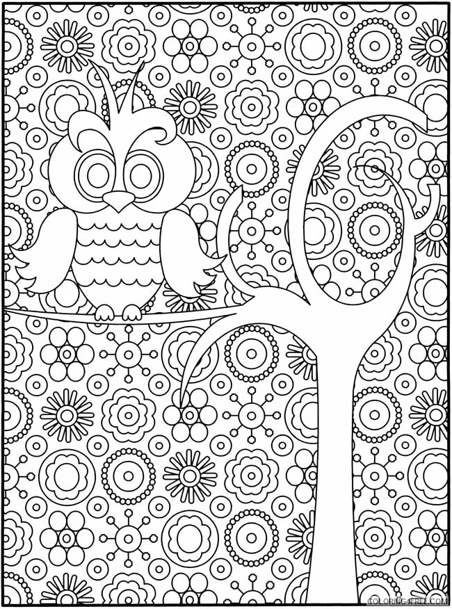 difficult owl coloring pages for girls Coloring4free