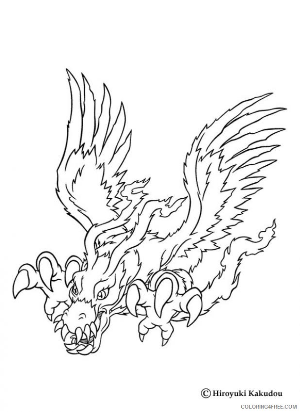 digimon coloring pages birdramon Coloring4free