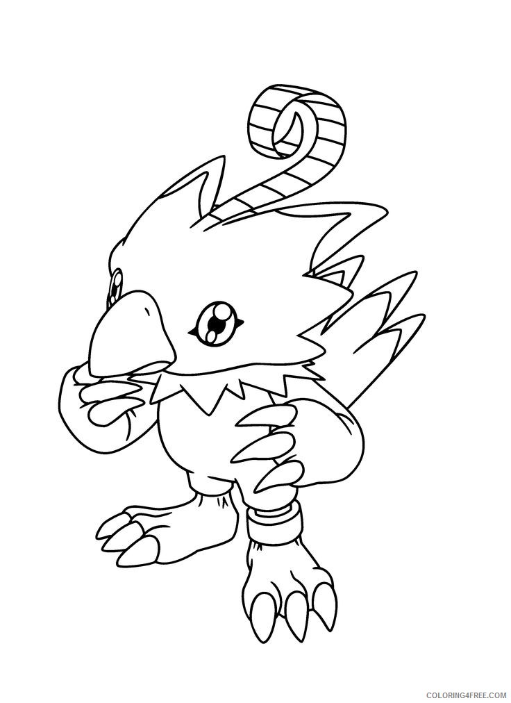digimon coloring pages biyomon Coloring4free