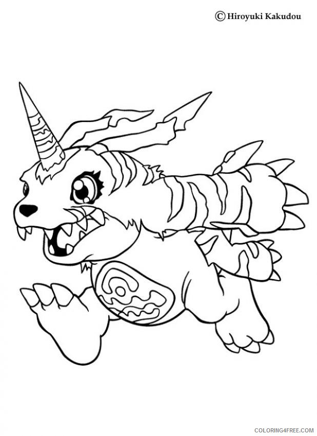 digimon coloring pages gabumon Coloring4free