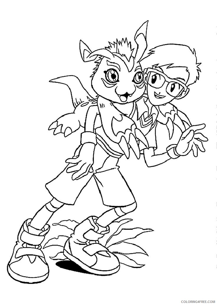 digimon coloring pages joe and gomamon Coloring4free
