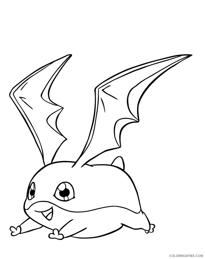 digimon coloring pages patamon Coloring4free