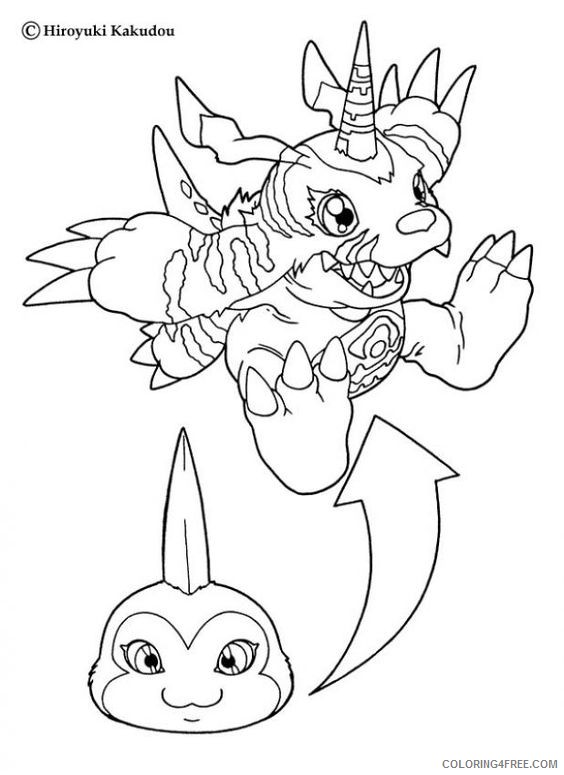 digimon coloring pages tsunomon to gabumon Coloring4free