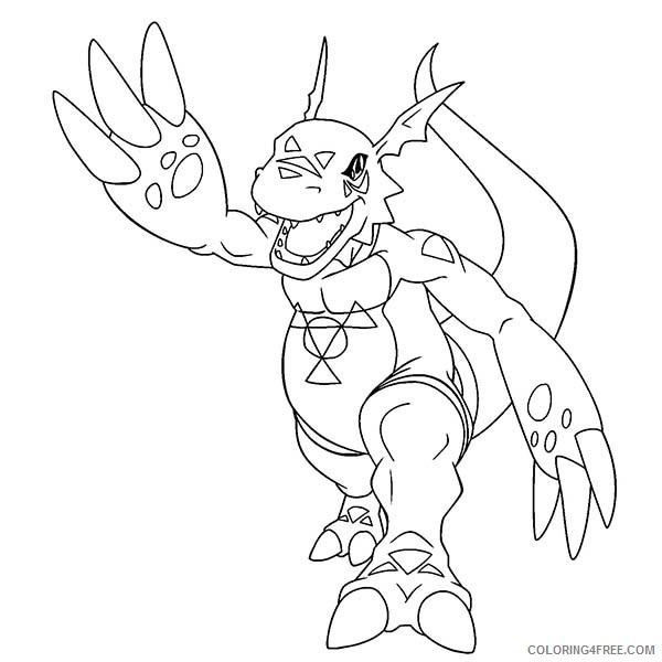 digimon evolution coloring pages Coloring4free