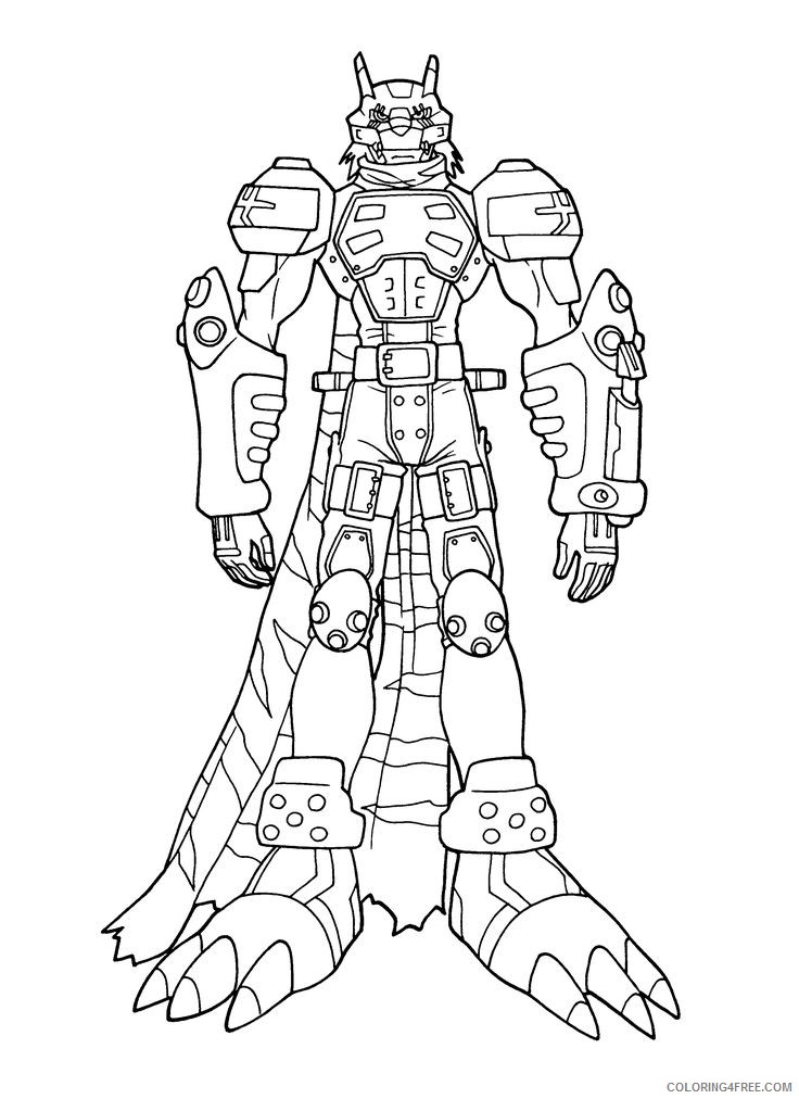 digimon evolution coloring pages to print Coloring4free