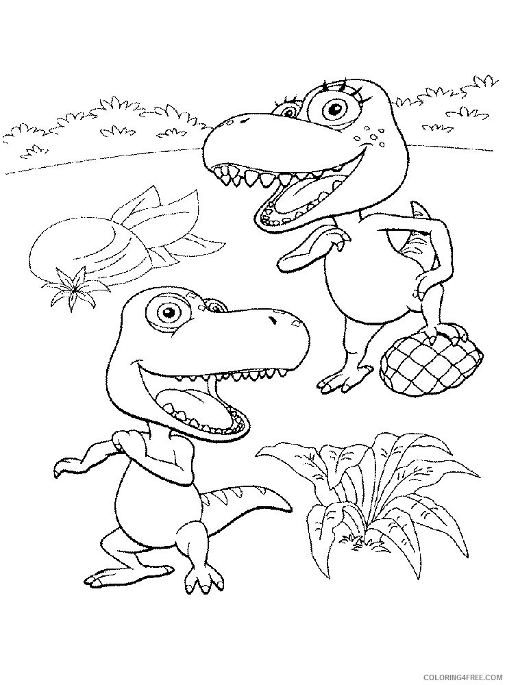 dinosaur train coloring pages for kids printable Coloring4free
