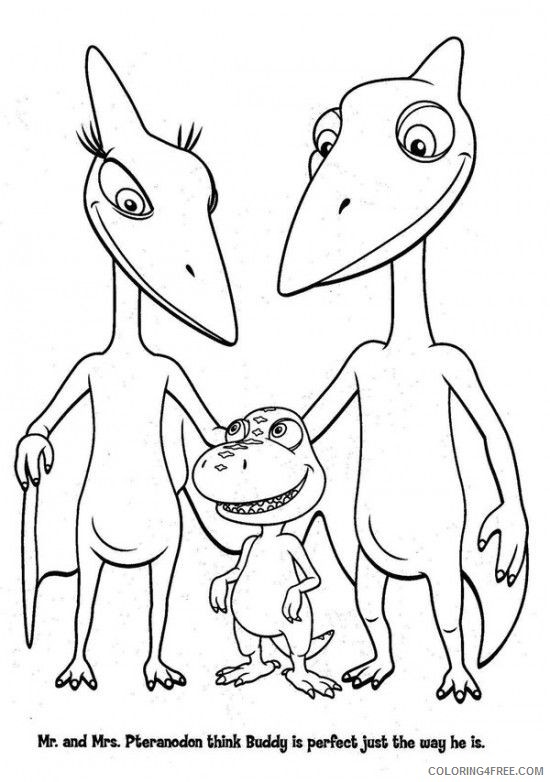 dinosaur train coloring pages mr and mrs pteranodon Coloring4free