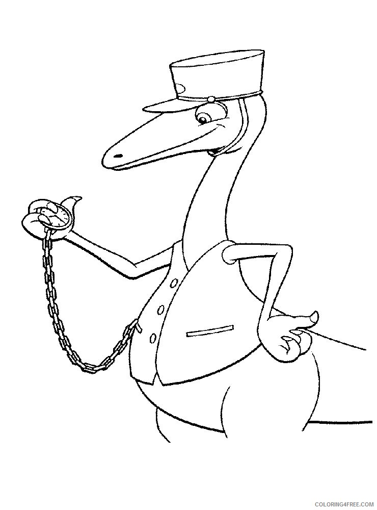 dinosaur train coloring pages mr conductor Coloring4free