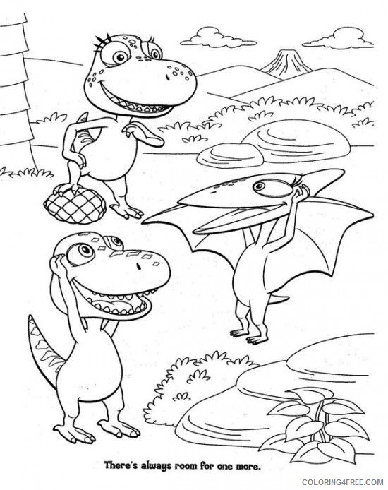 dinosaur train coloring pages playing together Coloring4free