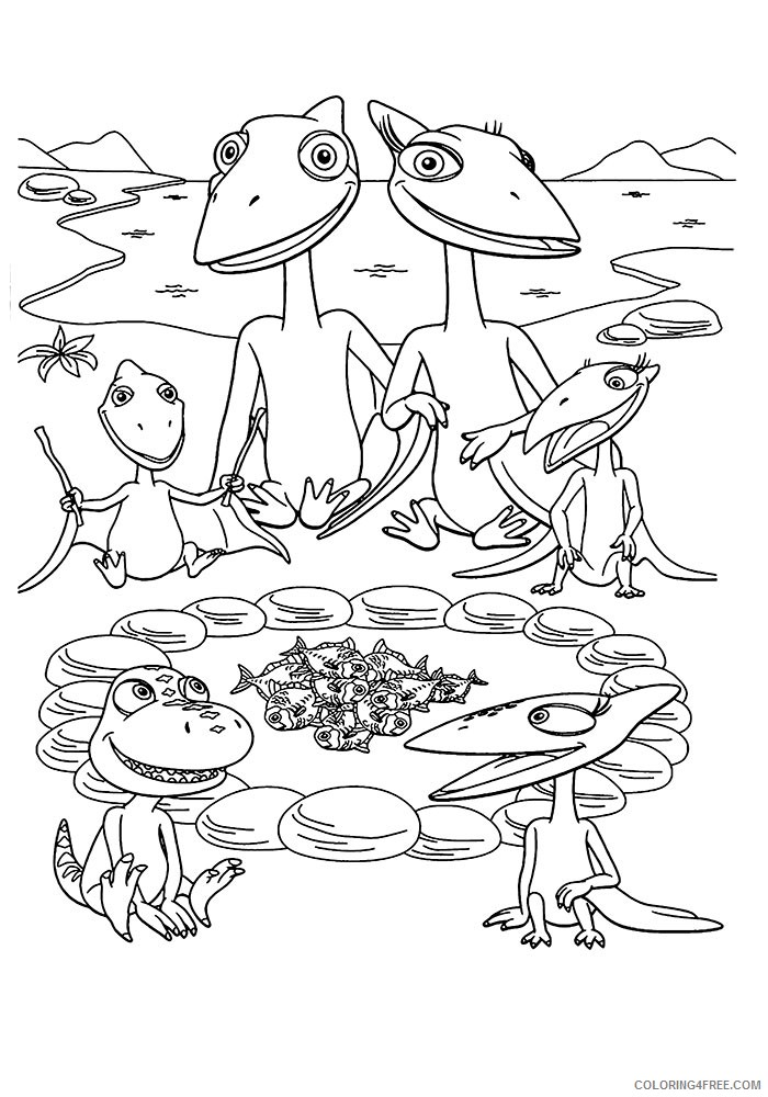 dinosaur train coloring pages printable free Coloring4free