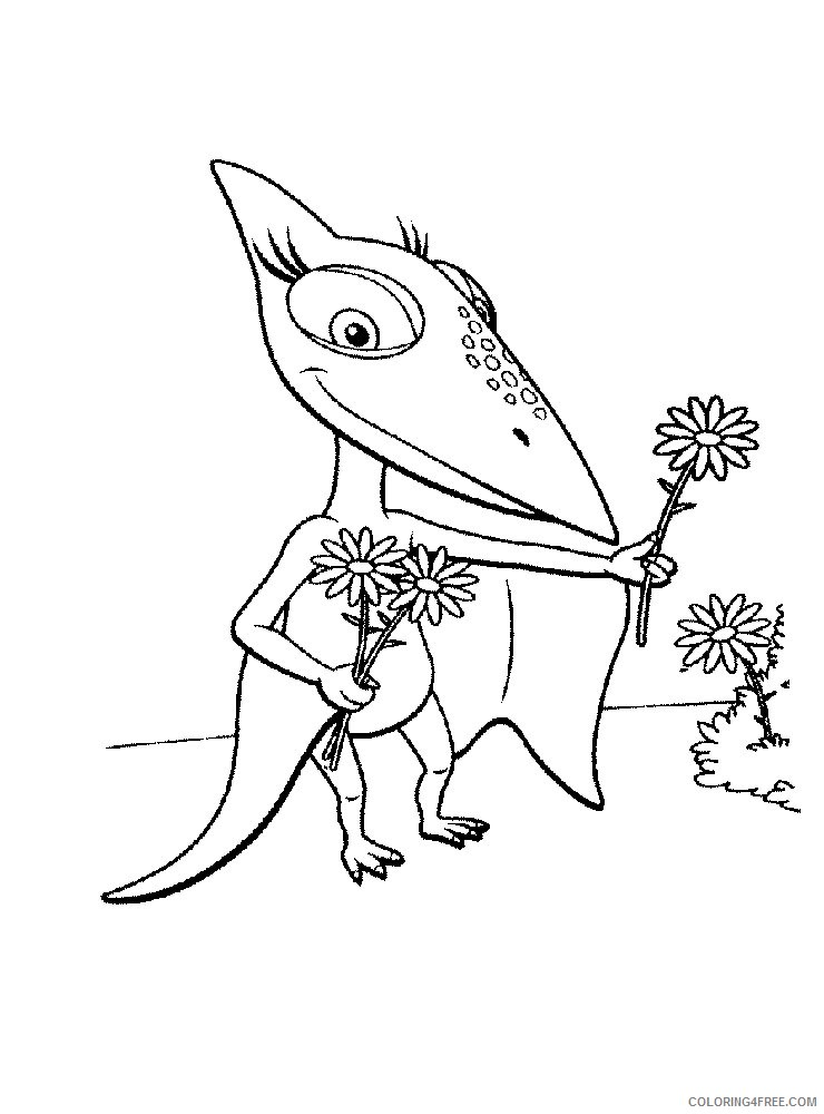 dinosaur train coloring pages shiny Coloring4free
