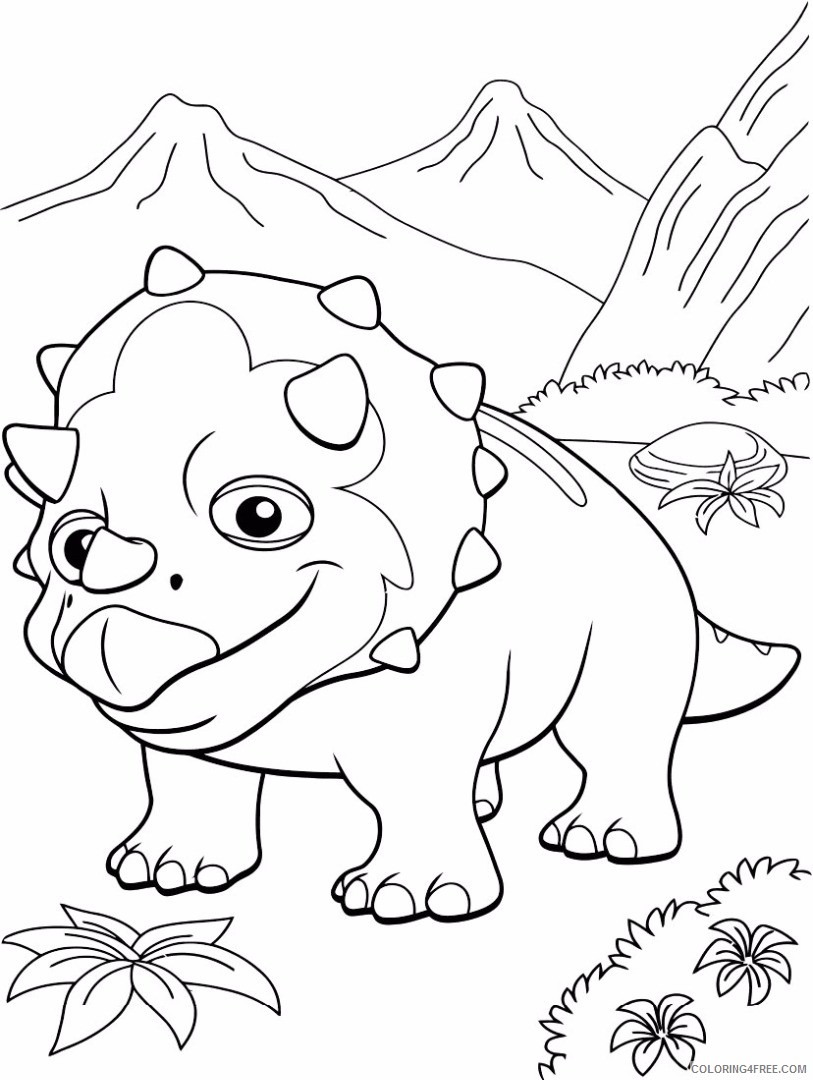 dinosaur train coloring pages tank Coloring4free