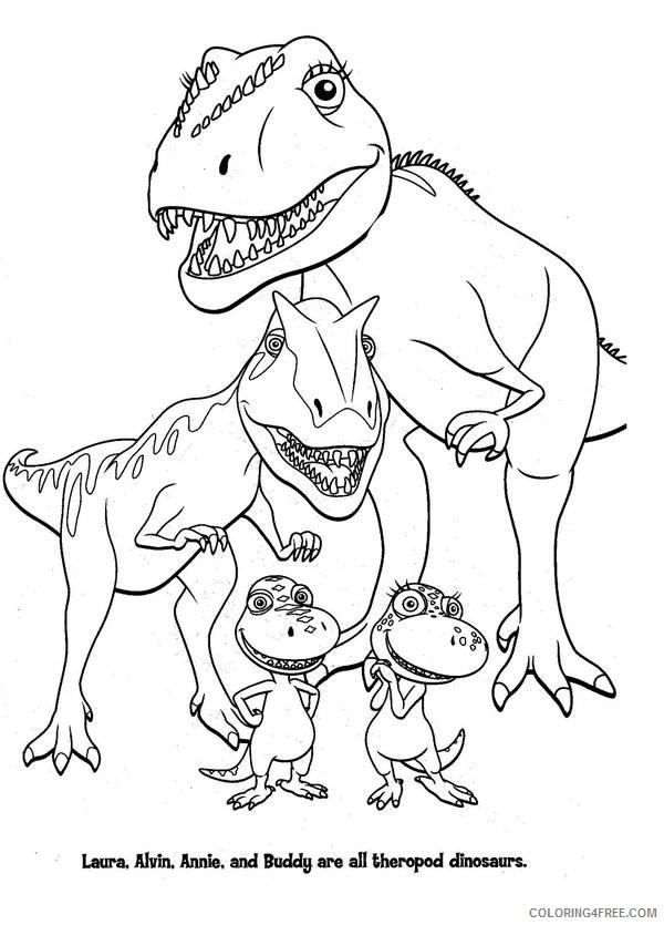 dinosaur train coloring pages tyrannosaurus family Coloring4free