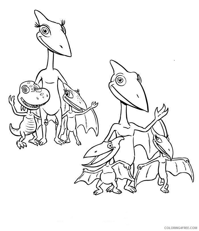 dinosaur train coloring pteranodon Coloring4free