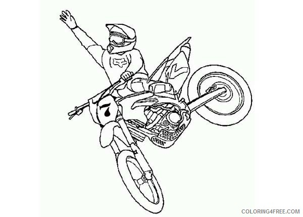 dirt bike coloring pages free to print Coloring4free